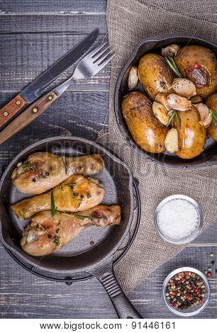 ?ountry Style Potatoes And Chicken