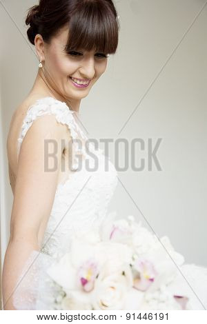 Beautiful Bride With Her Bouquet