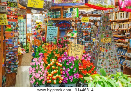 Souvenir Shop At The Floating Flower Market