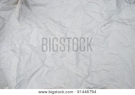 White crumpled paper for texture