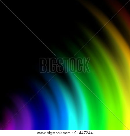 Abstract rainbow colors on a  background
