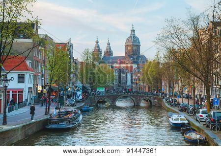 Basilica Of Saint Nicholas (sint-nicolaasbasiliek) In Amsterdam, Netherlands