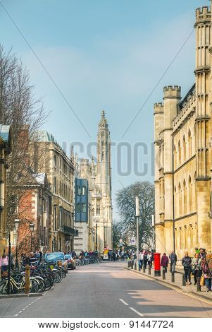 Old Central Street Of Cambridge