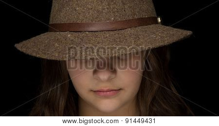 Young Girl With A Fedora