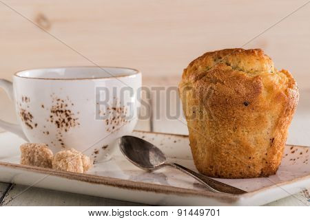Vanilla Muffins And A Cup Of Tea