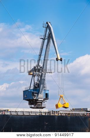 Port Crane At Work
