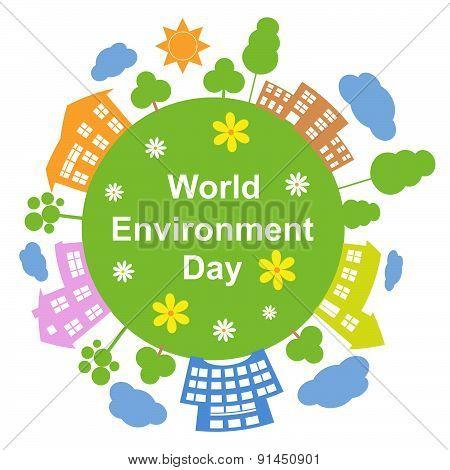 World Environment Day, Vector Illustration