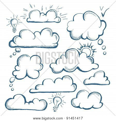 Set Of Speech  Bubble. Cloud