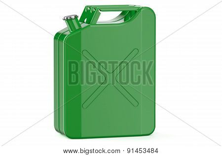 Green Jerry Can With Gasoline