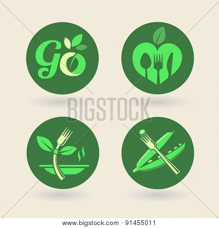 Set Of Organic-eco-bio-natural Labels