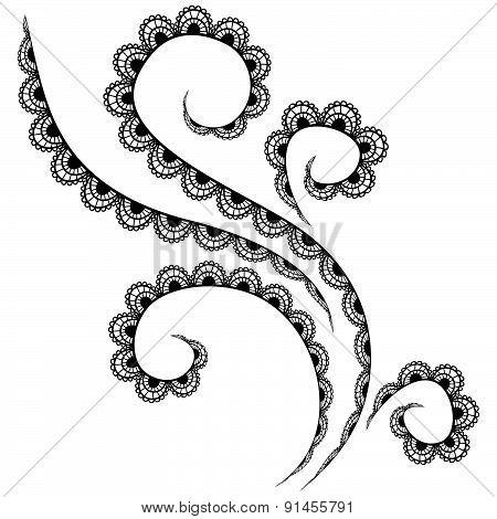Vector black lace pattern