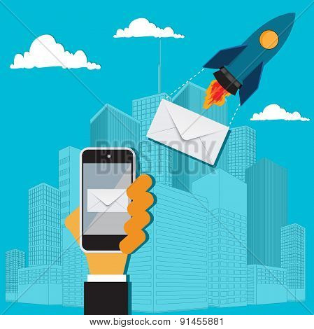 Messaging concept, vector, illustration