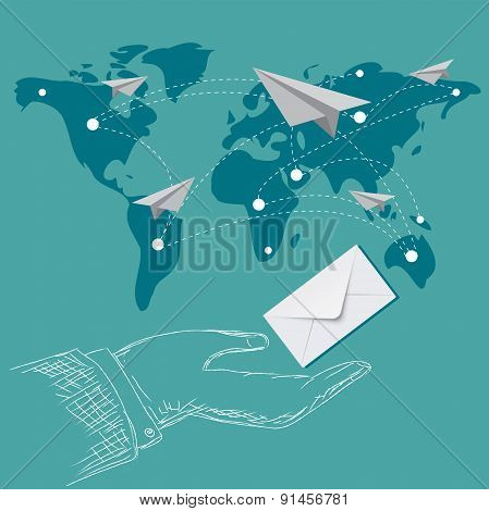 email marketing, vector, illustration