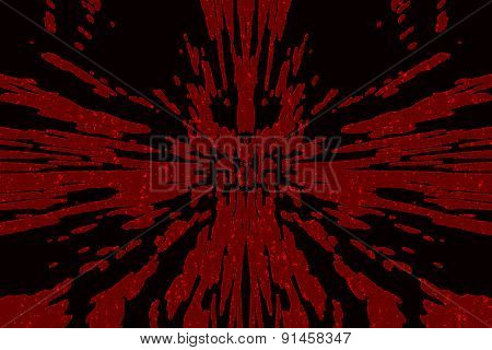 Black background with blood red splashes and spatter