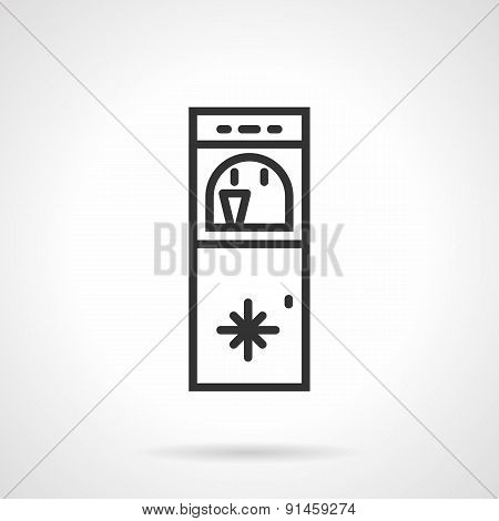 Floor water cooler line vector icon