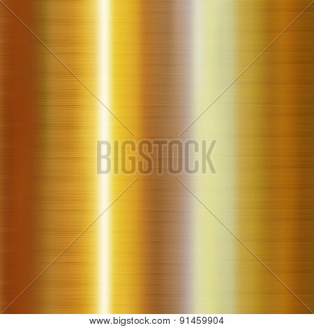 Gold metallic background. Vertical seamless pattern background. Vector illustration