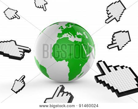 Worldwide Internet Indicates Web Site And Analyse