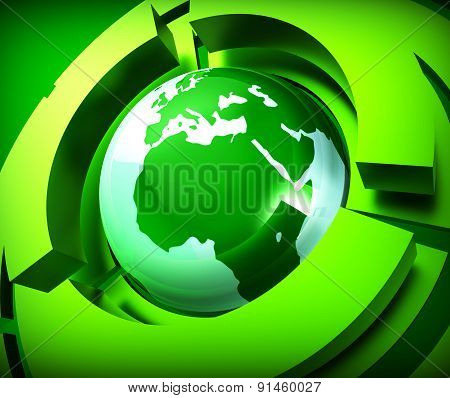 Worldwide Globe Represents Online Globally And Globalise