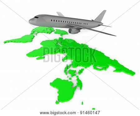 Worldwide Flights Means Web Site And Globalize