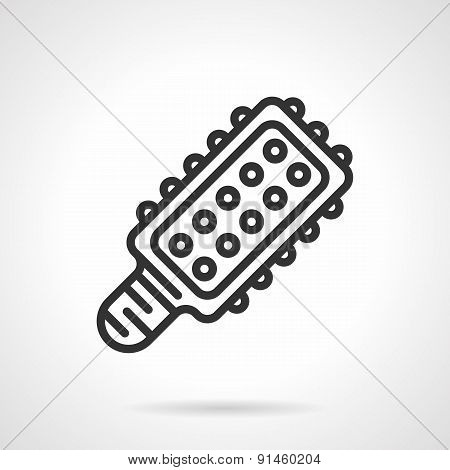 LED light bulb black line vector icon