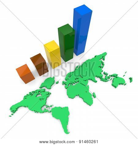 World Wide Growth Shows Raise Gain And Expansion