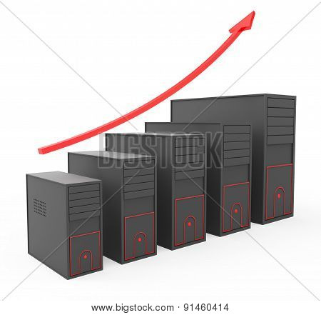 Increase Computer Storage Shows Storehouse Store And Pc