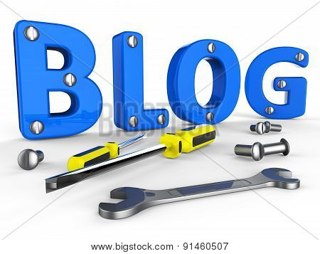 Blog Tools Represents World Wide Web And Blogger