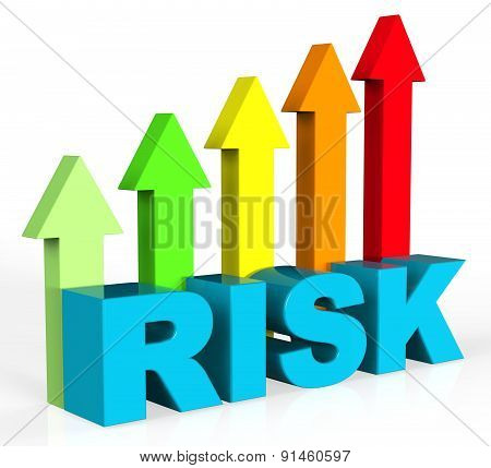 Increase Risk Means Hurdle Danger And Insecurity