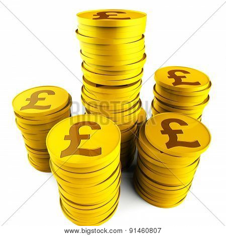 Pound Savings Indicates Monetary Capital And Prosperity