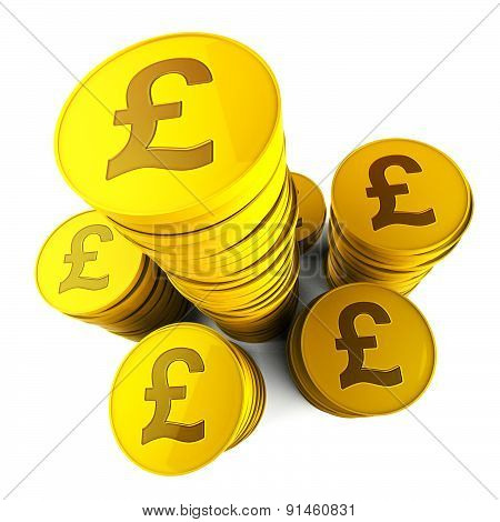 Pound Savings Means Financial Increase And Currency