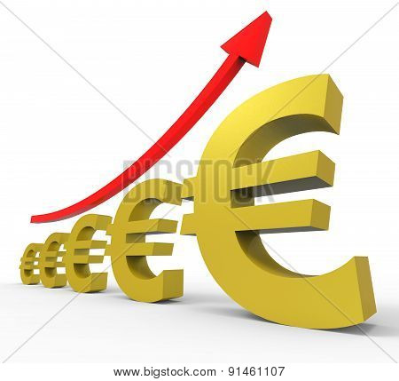 Gpp Increasing Shows Euro Sign And Accounting