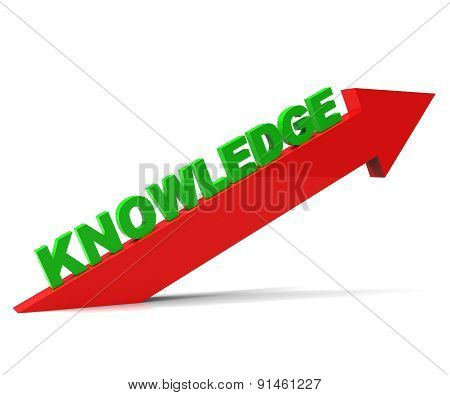 Increase Knowledge Represents Growing Education And Arrow