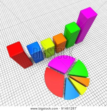 Pie Chart Shows Business Graph And Charting