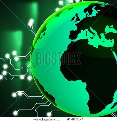 Europe Africa Globe Represents Globalisation Globalize And Countries