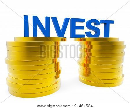 Invest Money Indicates Finance Investor And Roi