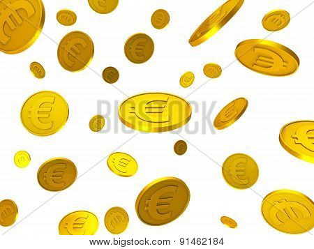Euro Coins Indicates Financial Euros And Financing