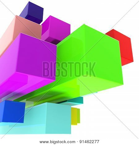 Blocks Background Indicates Text Space And Abstract