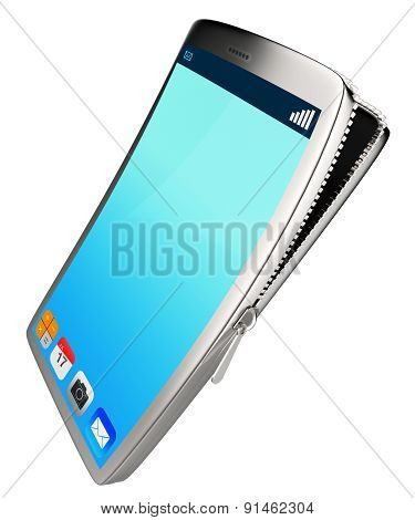 Phone Contents Represents Application Software And Phones