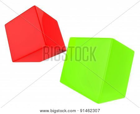 Dice Blocks Indicates Blank Space And Bet