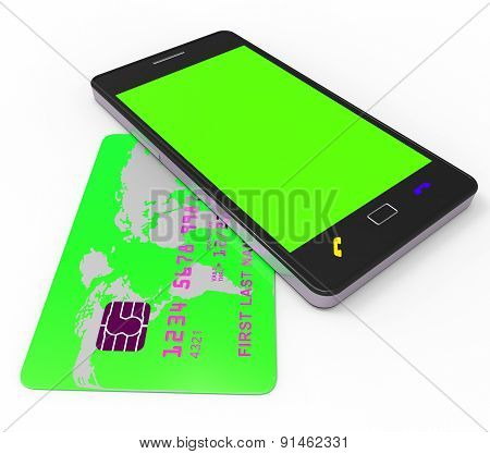 Credit Card Online Shows World Wide Web And Bought