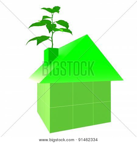 Eco Friendly House Indicates Go Green And Building