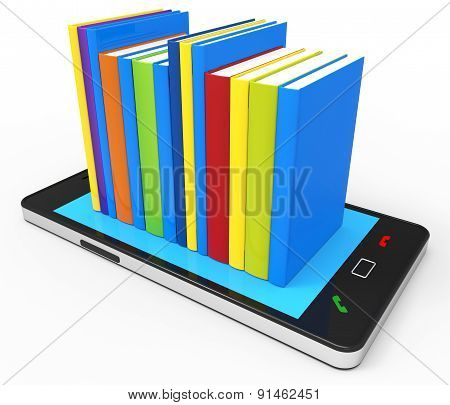 Phone Knowledge Online Indicates World Wide Web And Book