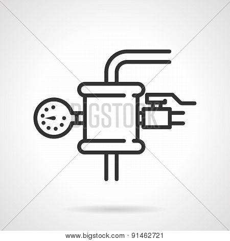 Pressure testing vector icon