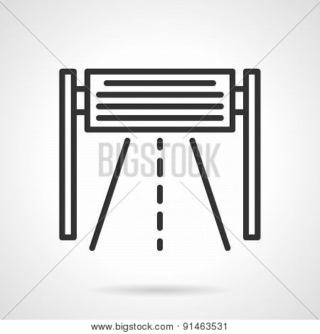 Road billboard black line vector icon