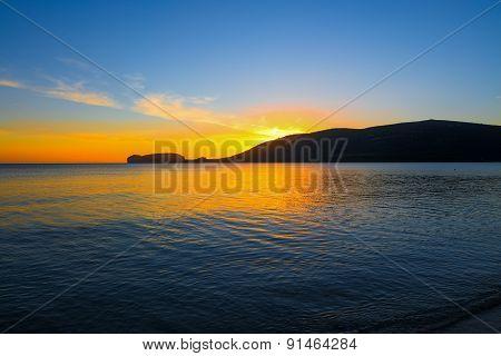 Capo Caccia Silhouette Under A Scenic Sky