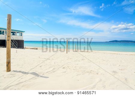 Wooden Poles By The Shore