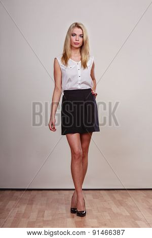 Fashion Woman In Full Length Posing