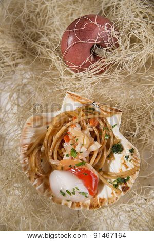 Spaghetti With Scallops