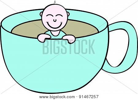 Baby on cup - Baby shower