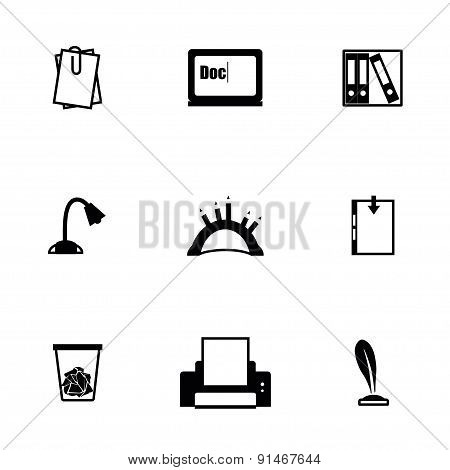Vector Document icon set